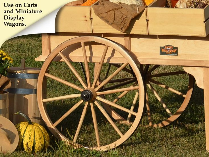 Decorative Wooden Wagon Wheels | Hansen Wheel & Wagon Shop