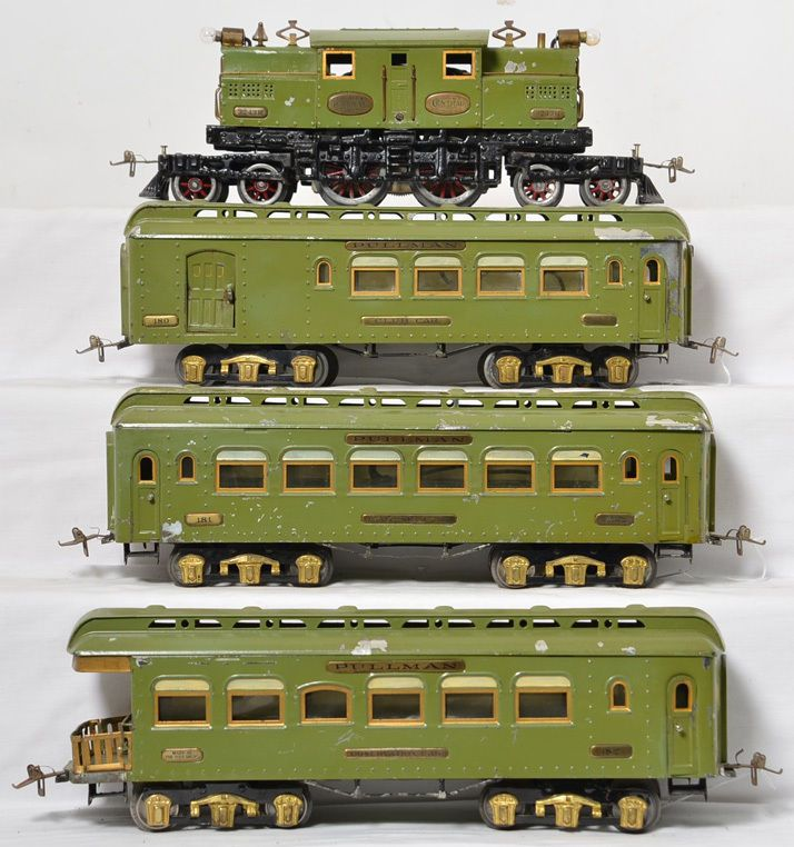 Ives standard gauge electric passenger set with 3243R loco