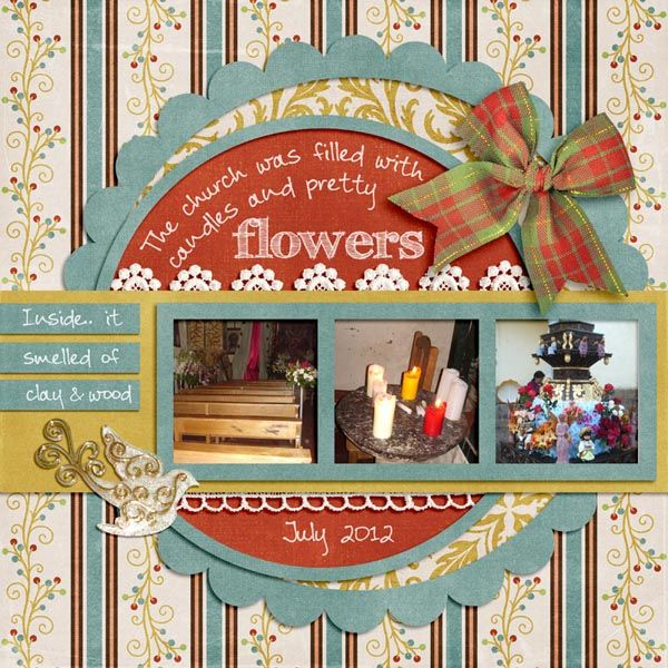 A page about our 2012 Trip to Peru. While visiting family we also visited the church there. For this page I used Christmas Traditions kit by Lisa Rosa - With Love Studio www.withlovestudio.net/shop/index.php?main_page=product_info&cPath=27_188&products_id=3034