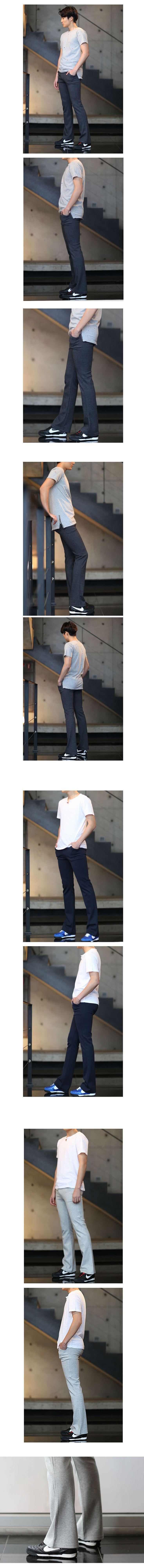슬림부츠컷 무지 팬츠/ 패션갑/ 14,400원  남자 트레이닝 패션, 남자 트레이닝 팬츠, 남자 운동복, 휘트니스, 운동복, 데일리룩