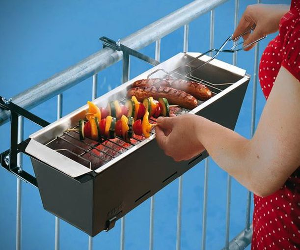 Get Your Balcony To Meet The Grill Of Its Dreams    ---  from InventorSpot.com --- for the coolest new products and wackiest inventions.