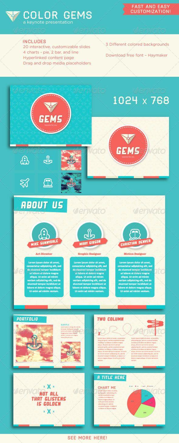 Presentation Templates - Color Gems Keynote Presentation | GraphicRiver, design, presentation, color pattern,
