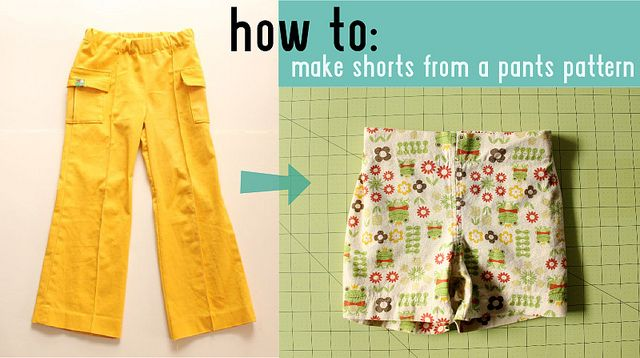 how to: shorts from a pants pattern the right way // made by rae