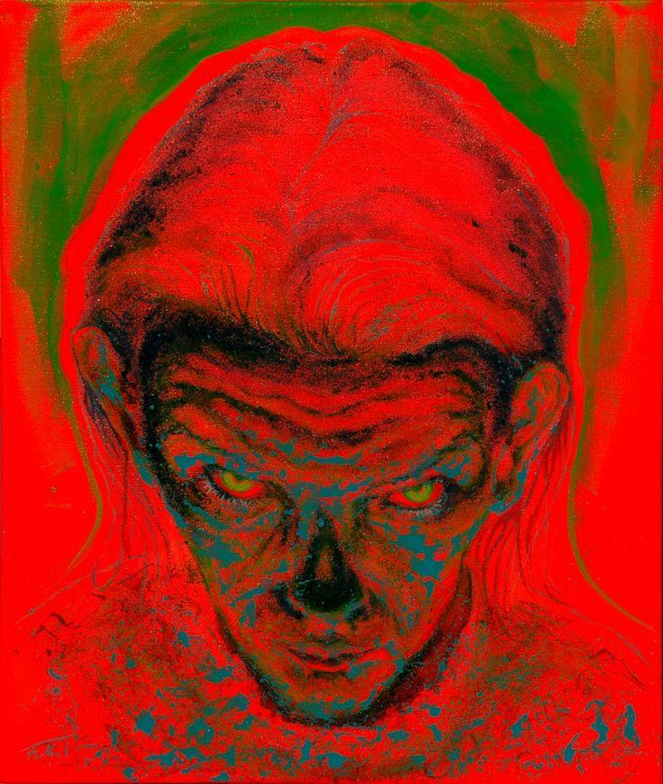 Entity tehnique: oil on canvas 50/60cm #Cristiferkel  #oilpainting  #art  #Romaniaart #Timisoara #Astralplane #astralworld #astraportrait #astralentity #entity #astralbody #canvas #dripping #pollok  #actionpainting #simbolism #artworks #neonglow #eyekiller #atitudine #buyingart  #modernart