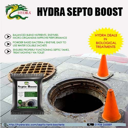Use Septo Boost in cesspools, cesspits and septic tanks for efficient breakdown of organic waste ...