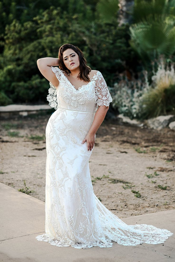 The Curvy Babe Bridal Collection Lets You Show Off Your Curves Plus Wedding Dresses Curvy Wedding Dress Plus Size Wedding Gowns [ 1104 x 736 Pixel ]