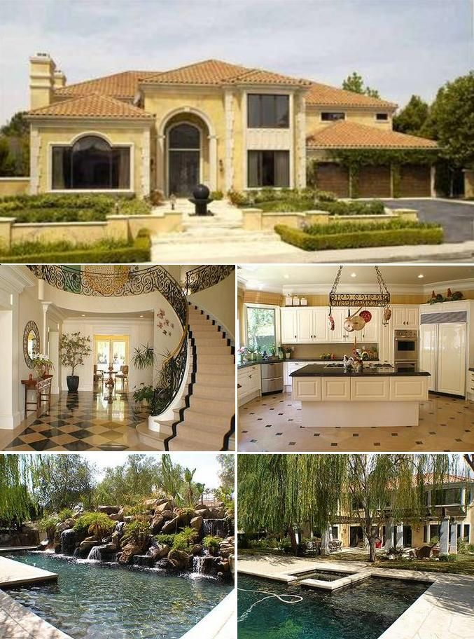 Mansion Houses With Pools mansion, in ground pool, fancy kitchen. hell yes. | lotto winner