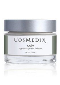 CosMedix Defy Exfoliating Treatment Night Care, 1 Ounce/30 Grams by CosMedix. Save 15 Off!. $56.07. A pacifying, all-natural exfoliator Formulated with three, chirally correct AHAs Imparts nutrients deep into skin?s layers Invigorates