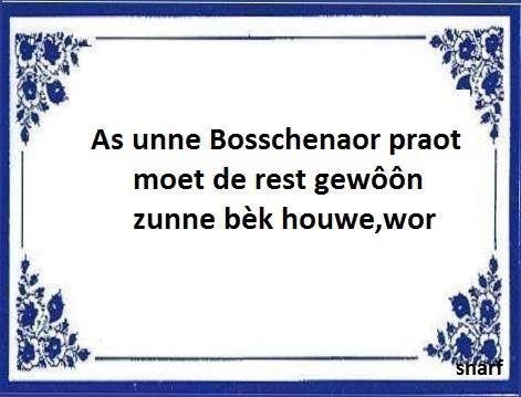Bosch gezegde