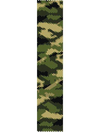 Camouflage Bracelet Peyote Pattern