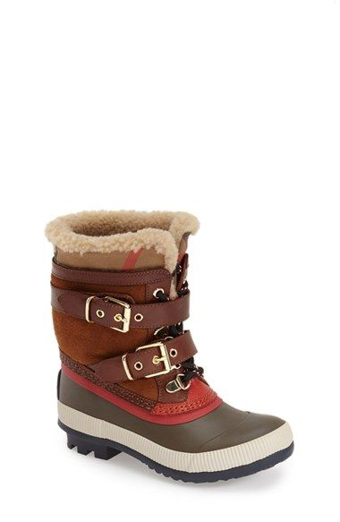 Toddler Girl's Burberry 'Windmere' Shearling Boot , Size 32 EU