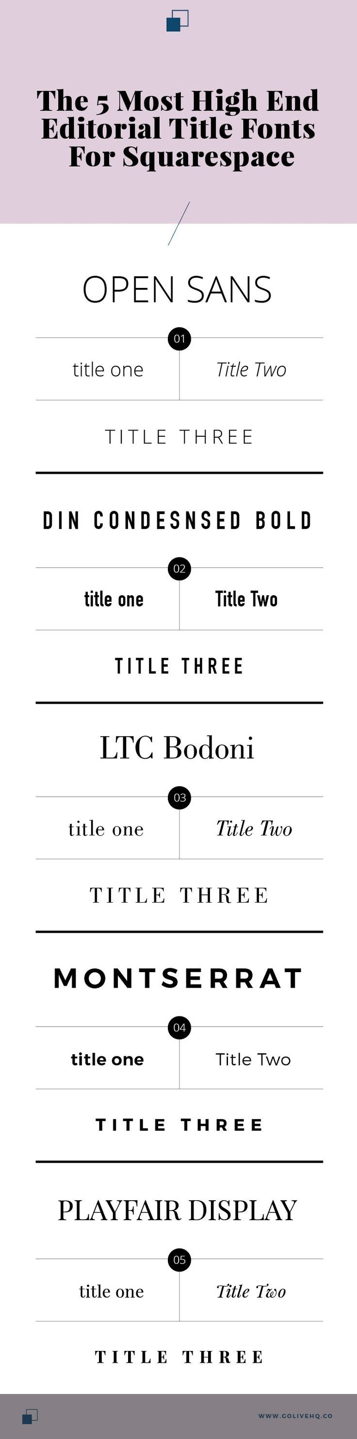 high end fonts for Squarespace | http://golivehq.co