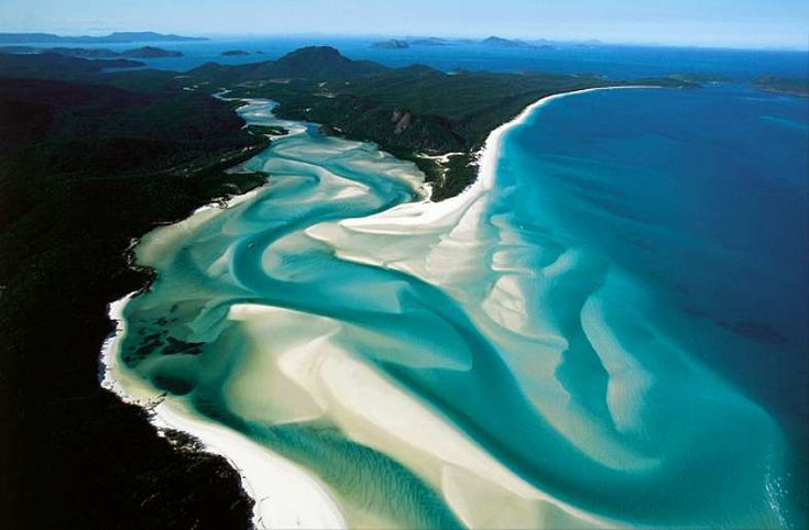 Whitehaven Beach, Australia.    Care for some blueberry vanilla smoothie? yummy looking beach.