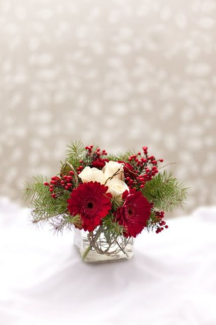 Best christmas flower arrangements ideas on pinterest