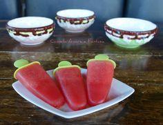 ghiaccioli all'anguria senza zucchero