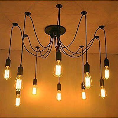 yuewei® Lampadari Edison Industrial Style Vintage Loft lampadario a sospensione Luci fai da te( con la lampadina, 10)