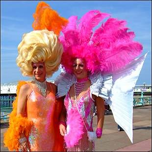 Mother & her sister had their hair done especially for Brighton Gay Pride