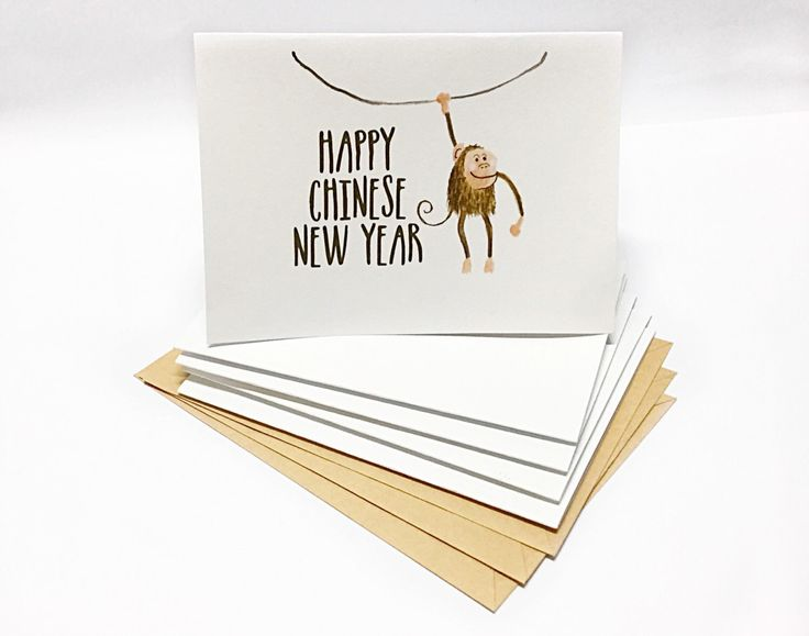 Chinese New Year Card - Illustrated Monkey https://www.etsy.com/listing/263555099/watercolor-illustrated-chinese-new-year