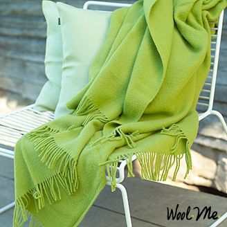 Lime Green Wool Throw Wool Throws Blankets Amp Decorative