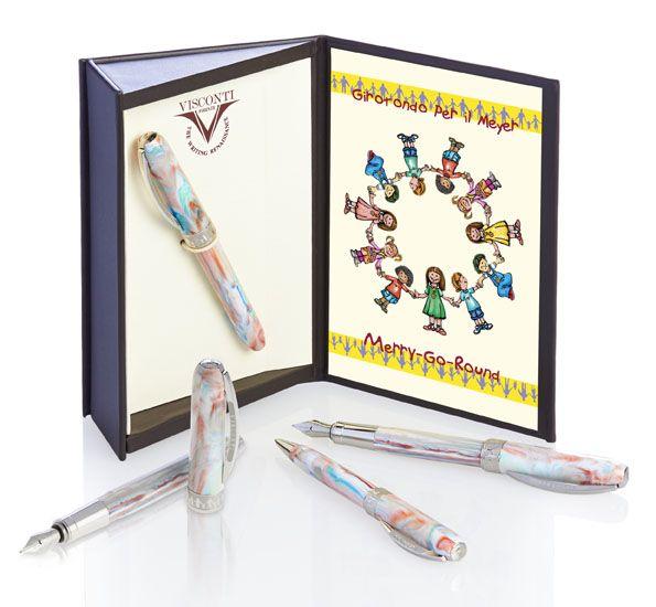 Girotondo per il Meyer - la penna Visconti creata per essere la Prima penna di un bambino, con certificato di proprietà. Proventi devoluti all'ospedale pediatrico Meyer di Firenze: http://www.giardino.it/pens/visconti/meyer_i.php