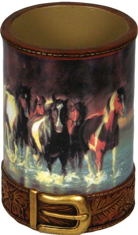 Rush Hour Horses Bathroom Tumbler