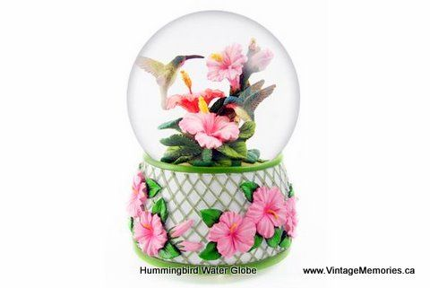 Hummingbird Water Globe