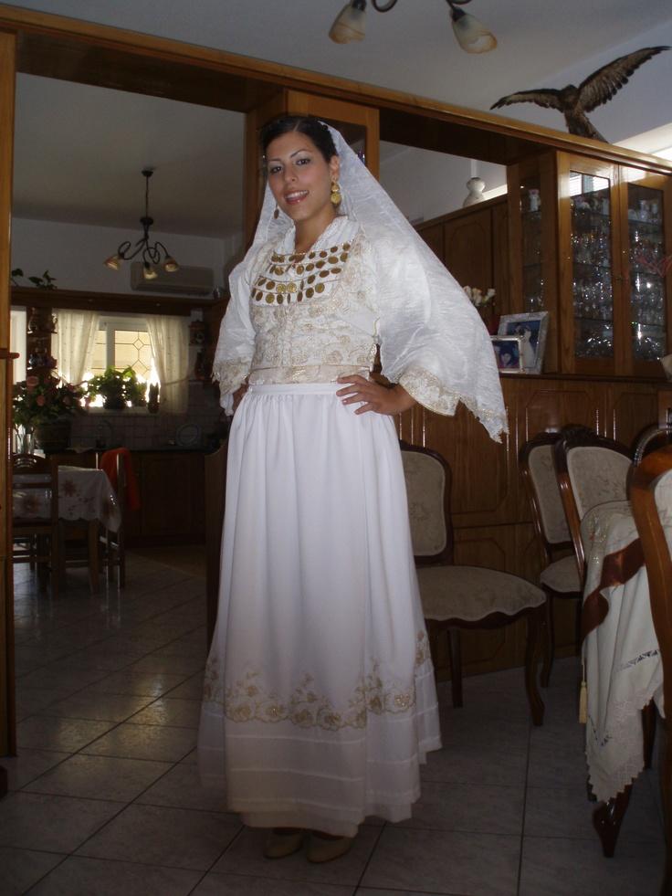 Cretan traditional wedding dress.