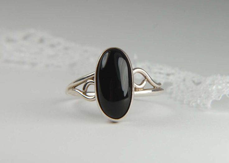 Handmade Black Onyx Ring Artisan Ring 925 Silver Ring Oval Ring Everyday Ring Friendship Ring Artisan Jewelry by LouiseLeder on Etsy https://www.etsy.com/listing/174381124/handmade-black-onyx-ring-artisan-ring
