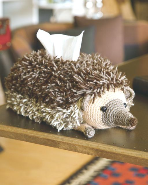 This Hedgehog Tissue Cover is Hilarious and Adorable! Get the Crochet Pattern Fr…