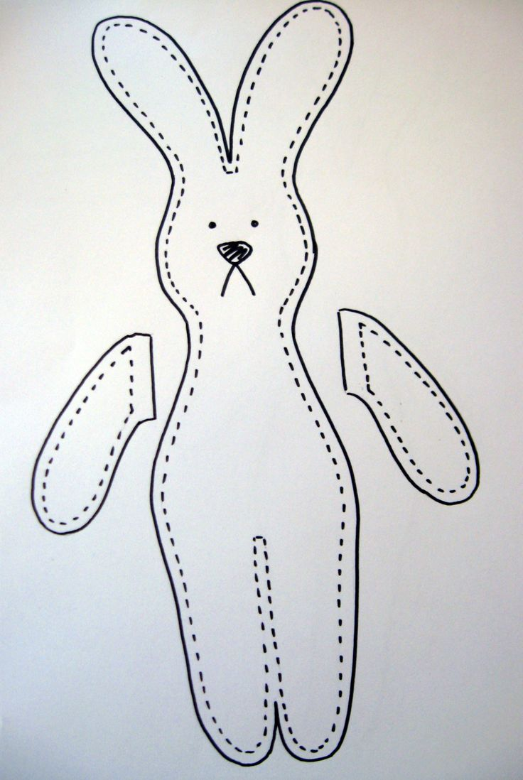 Free bunny rabbit patterns crafty rabbit tutorialangela for Bunny template for sewing