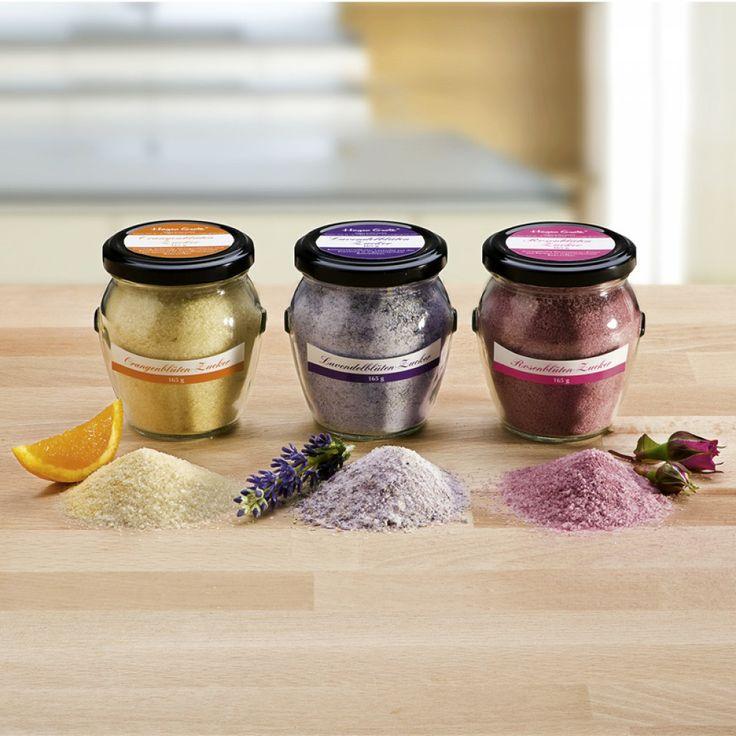 Blütenzucker - Lavendel / Rosen / Organgen