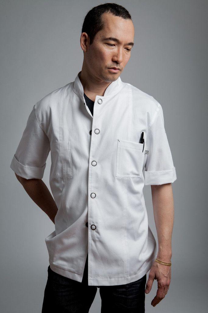 Now Available: Designer #ChefJacket - Men's Short-Sleeve Flight Jacket http://www.shannonreed.com/collections/men/products/designer-chef-jacket-men-shortsleeve-flight #Chefs #TopChefs #UtilityChic