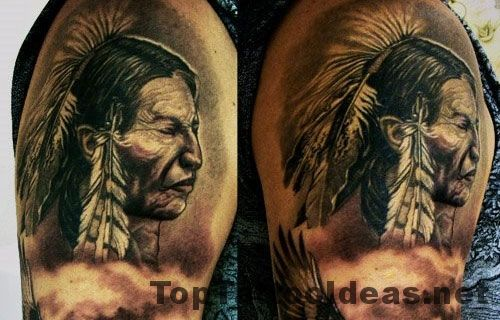 Nice Native American Tribal Tattoos For Men