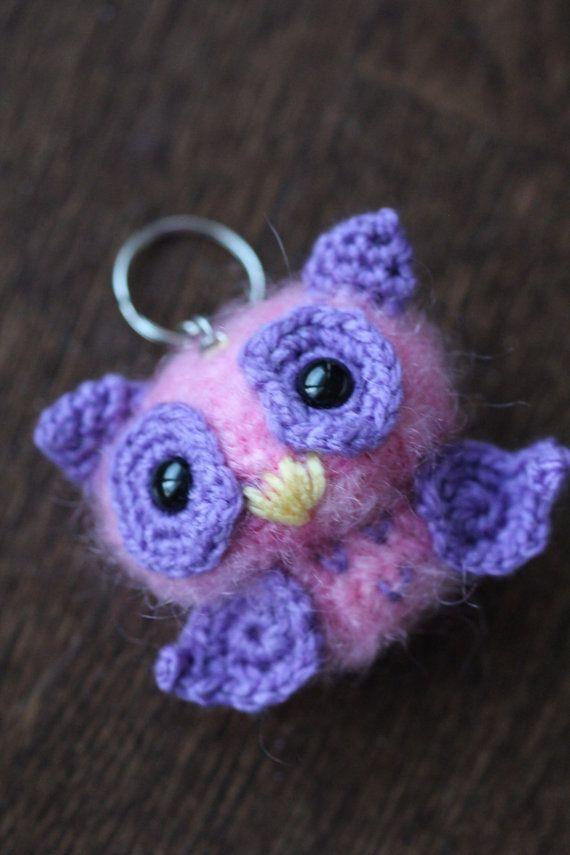 Amigurumi Stuffed Soft Fuzzy Little Owl by PurpleLilacAmigurumi