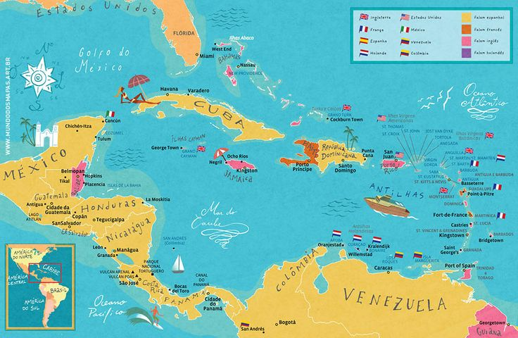 caribbean map from mundodosmapasartbr the site of nik neves and