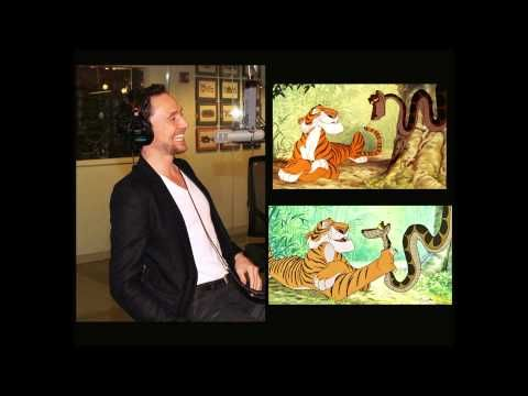 ▶ Tom Hiddleston Shere Khan and Kaa The Jungle Book impersonations - YouTube