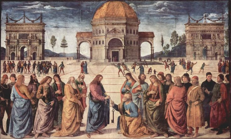 Sistine Chapel Northern Wall-Handing over the keys
