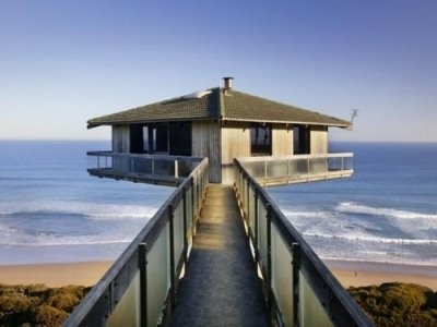 The famous Pole House. One of the Great Ocean Road's most photographed attractions.