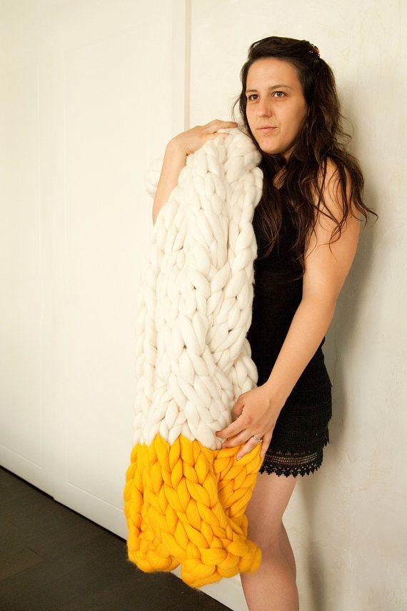 mailles laine géant tricot géant tricot pull tricot femme idée mode ...