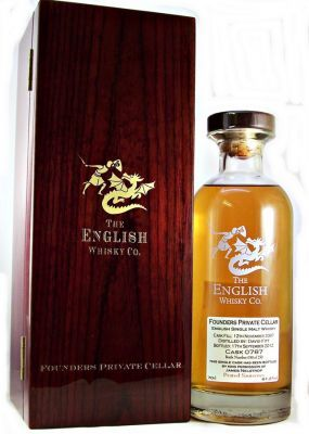 English Whisky Founders Private Cellar Peated Sauternes 61.2% 70cl