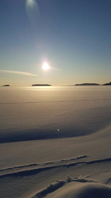 Gulf of Finland - ice, snow, sun. -17 C Beautiful!!
