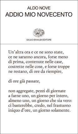 Aldo Nove, Addio mio Novecento, Collezione di poesia - DISPONIBILE ANCHE IN EBOOK