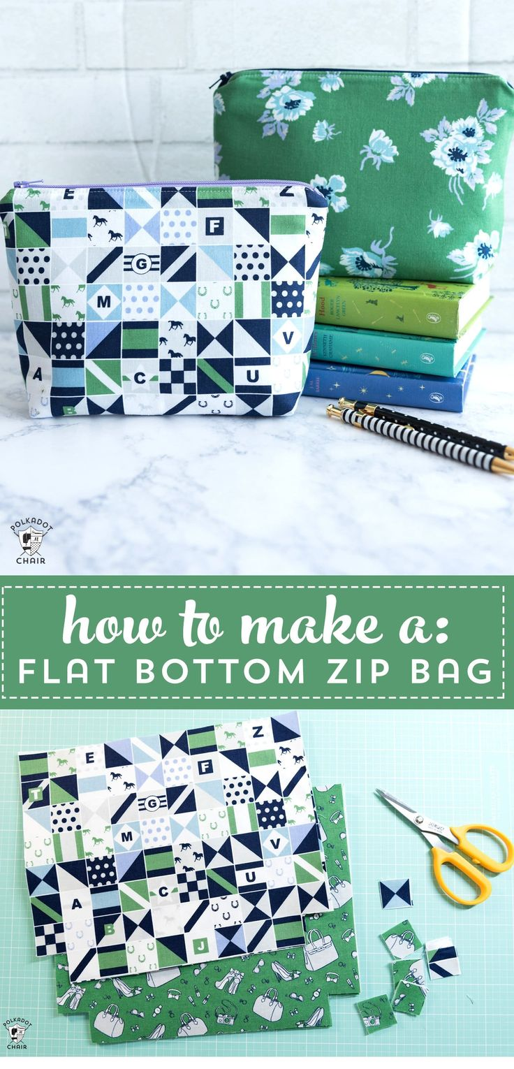 Learn how to sew a simple zippered pouch with the free tutorial. #simplesewingpr…