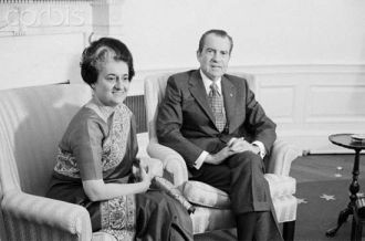 "AHEAD OF 1971 WAR, NIXON BRANDED HIS ENVOY TO INDIA AS TRAITOR~ Reluctant to hear anything against Pakistan president Gen Yahya Khan and his army ahead of the 1971 war, Nixon branded Kenneth B. Keating, the U.S. Ambassador to India, as a ""traitor"" and an ""Indian mouthpiece.""  Nixon wanted to fire Keating because he refused to tow Nixon's line when Keating pushed for the President to recognize that his closest ally, Pakistan, was indulging in genocide. ~ (Photo: Nixon and Indira Gandhi)"