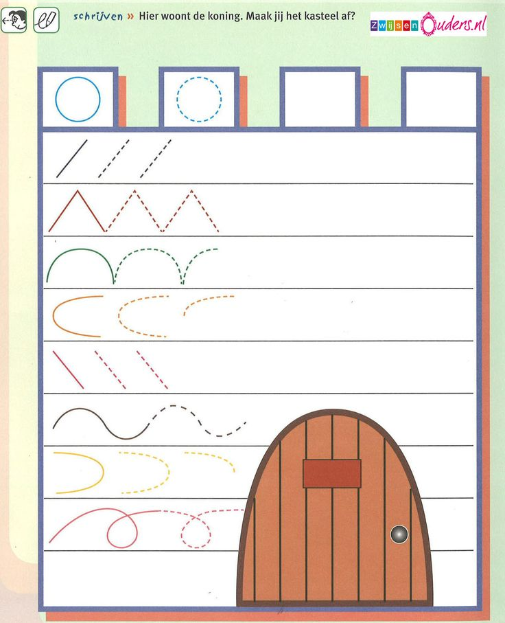 zwijsen/ kasteel schrijfpatroon