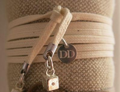 Bracelet lien écru