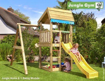 Jungle Home Shown with a single Swing Module