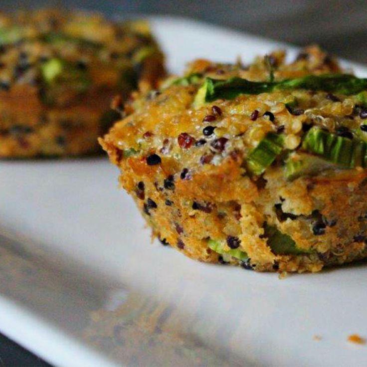 Asparagus & Parmesan Quinoa Muffins