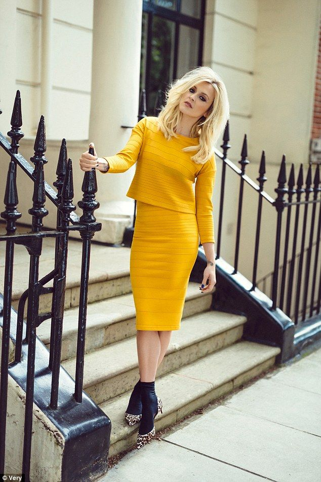 New shoot: Fearne Cotton, 33, has designed and modelled her fifteenth collection for e-tailer Very - and her AW14 range is all about channelling the 60s