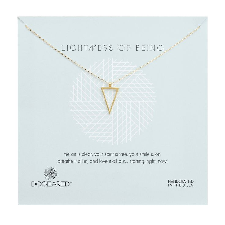 """Gold Dipped 18"""" Air Triangle Necklace"""